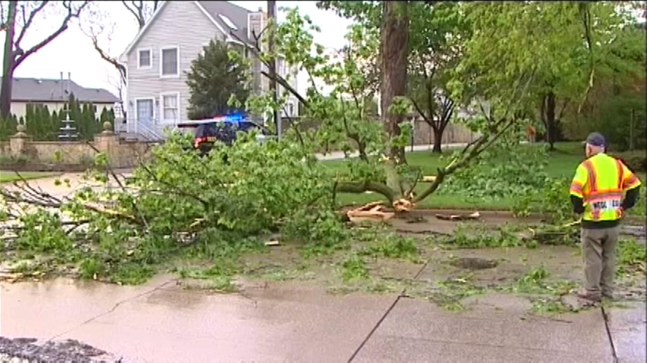 Second round of storms bring hail, downpours, some damage
