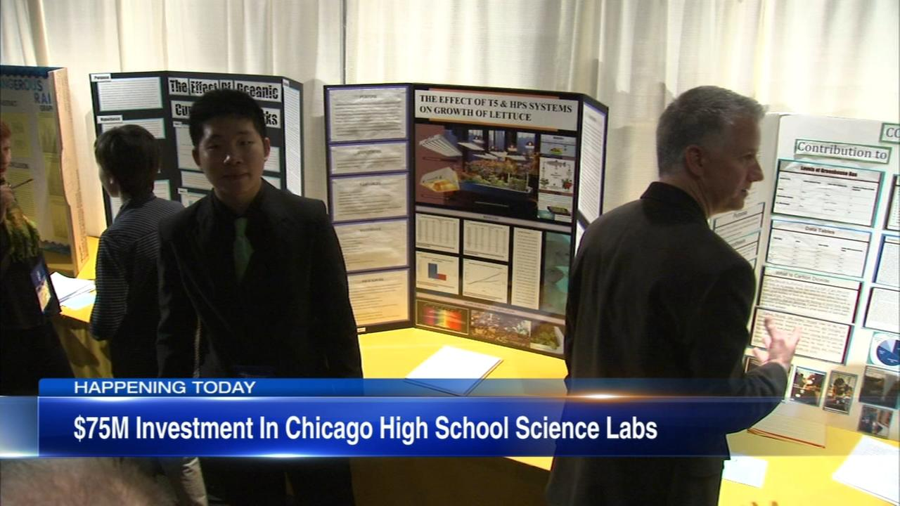 City spending $75M to upgrade science labs at more than 80 high schools
