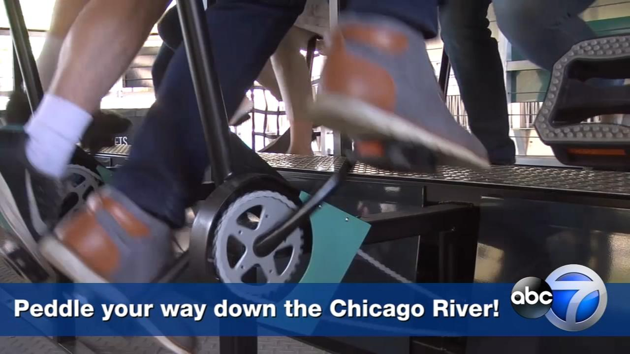 WATCH: Pedal along the Chicago River