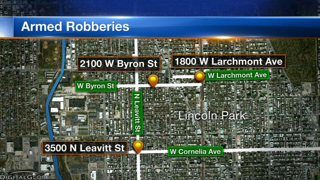 Boy, 14, among victims in 3 North Center armed robberies