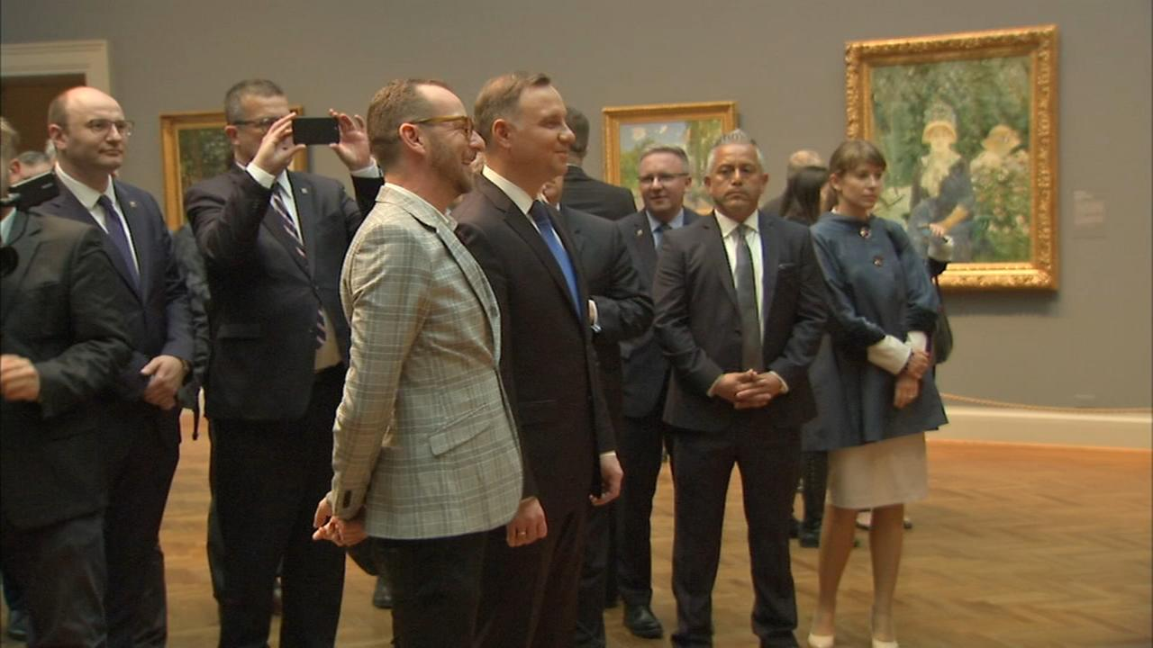 Polish president visits Chicago, meets with Emanuel, Rauner