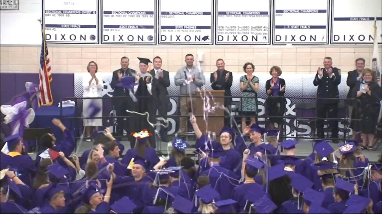 Dixon HS students graduate Sunday after shooting last week