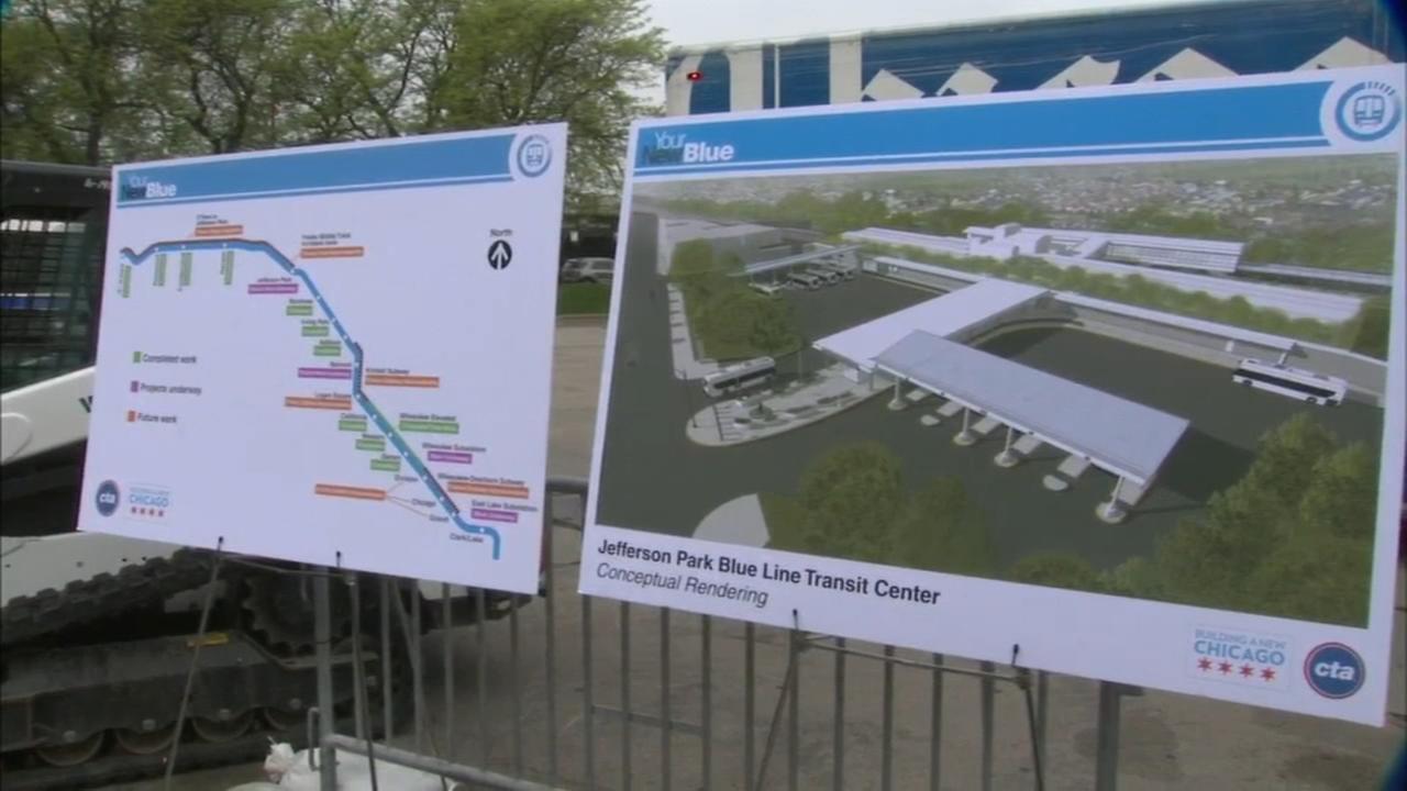 Blue Line renovations at Belmont, Jefferson Park begin