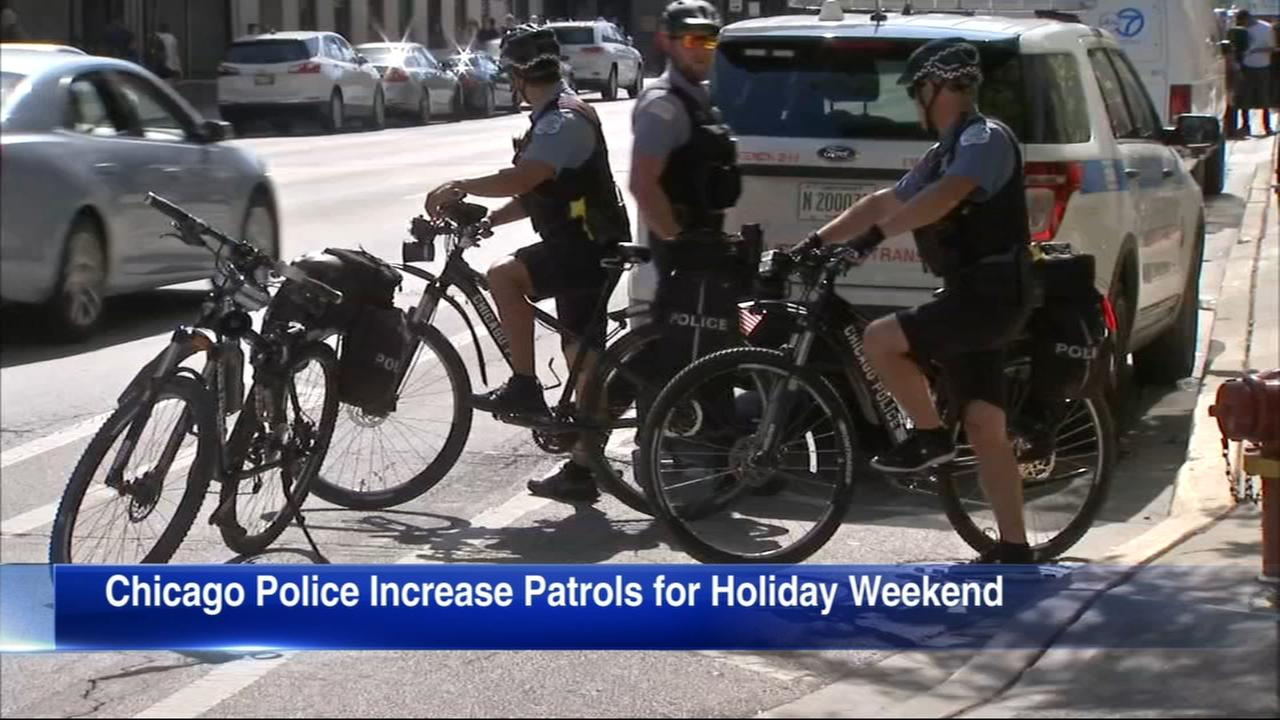 Chicago police step up patrols for Memorial Day weekend