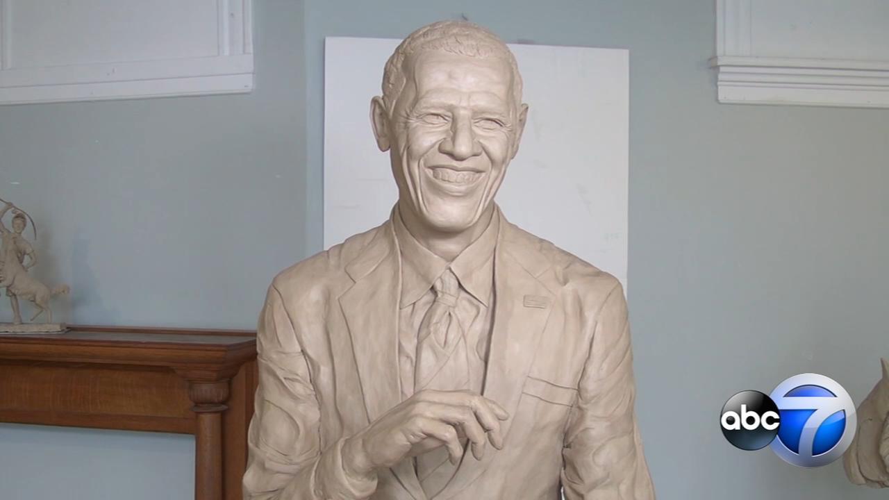 Chicago artist sculpts life-size President Obama statue