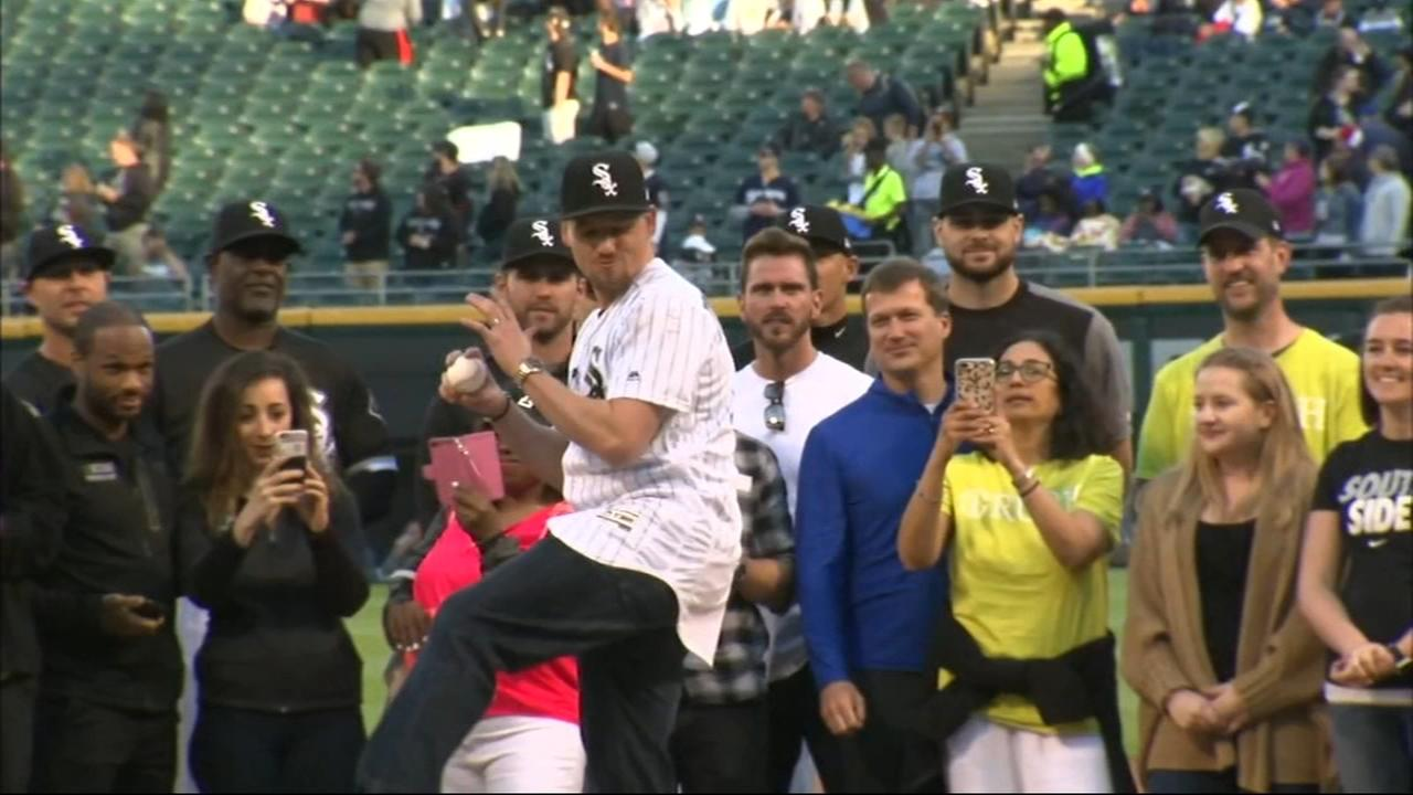 Danny Farquhar throws first pitch at White Sox game