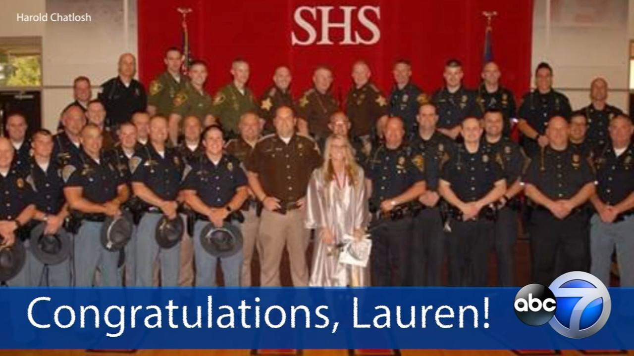 39 officers attend graduation for slain troopers daughter