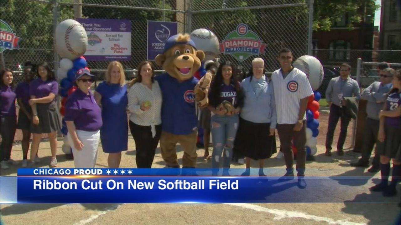 Josephinum Academy gets new softball field with Cubs Charities grant