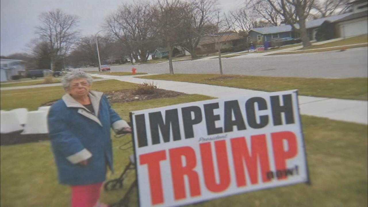 Woman, 94, goes up against Elgin officials over giant Trump yard sign