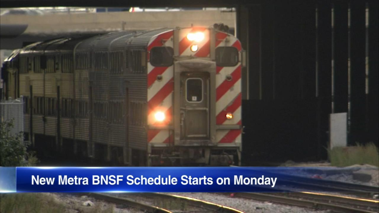 New Metra BNSF schedule starts Monday