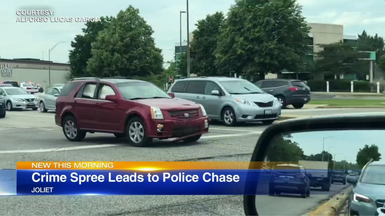 Man charged after crime spree, police chase in Joliet