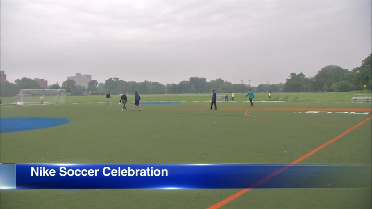 Douglas Park event celebrates soccer, new Nike collection