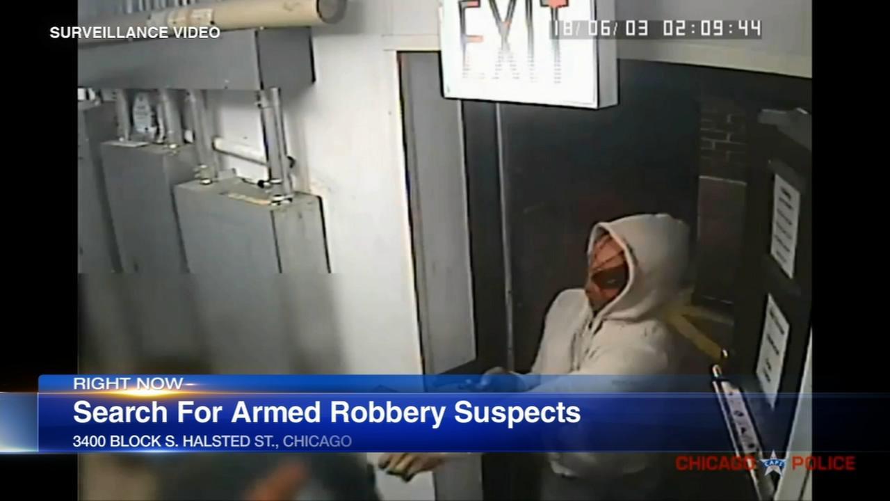 VIDEO: Robbers break into Bridgeport business, point gun at employee