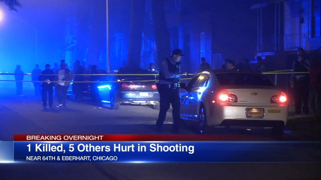 1 killed, 5 wounded in Woodlawn shooting