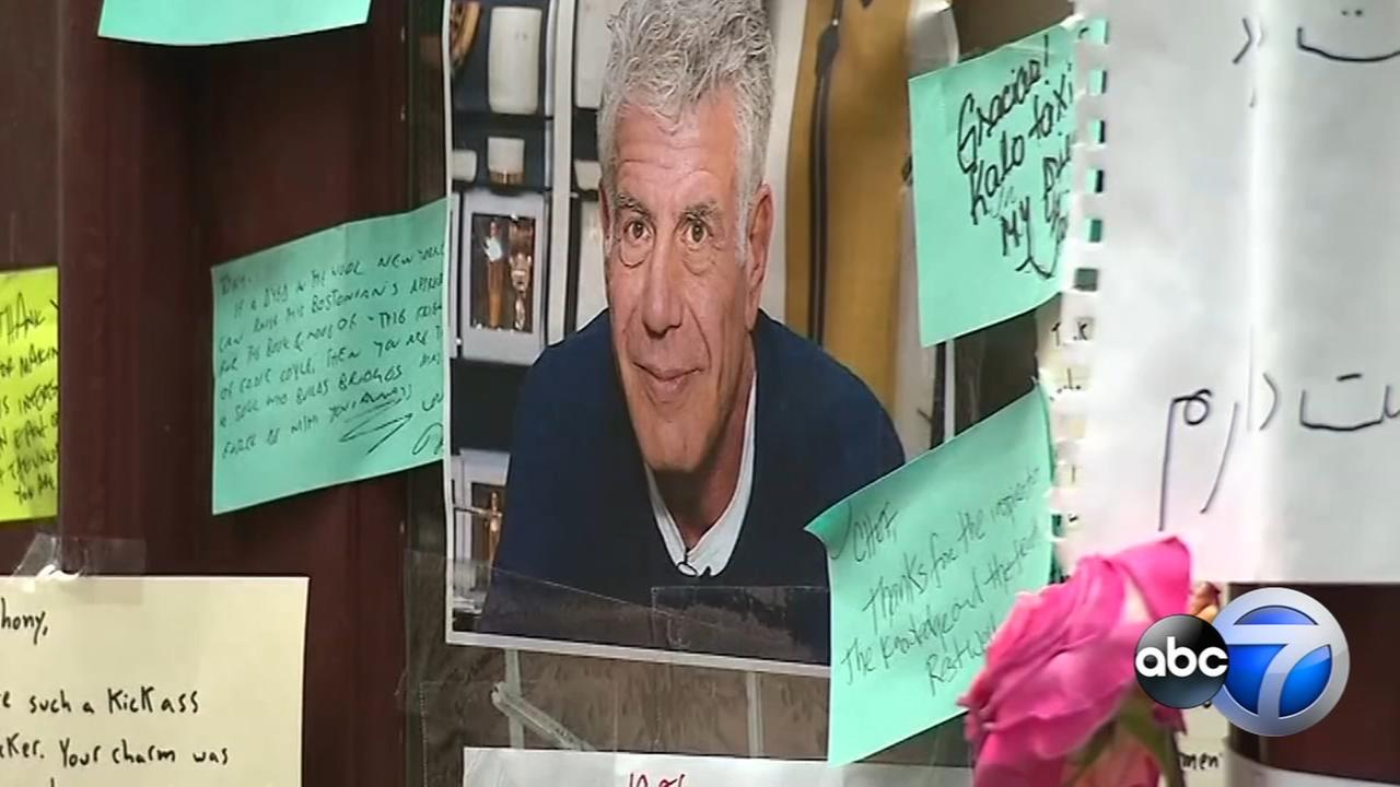 Anthony Bourdain memorial grows outside NYC restaurant