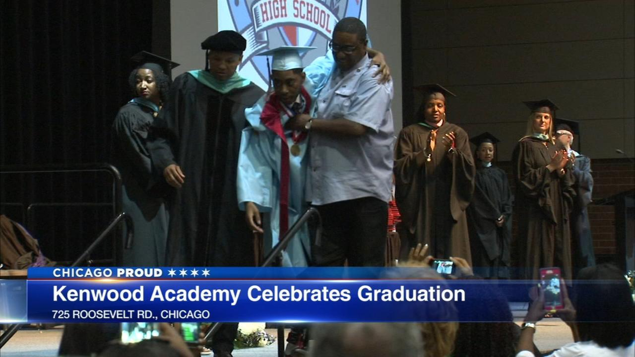 Kenwood Academy student who uses wheelchair walks across graduation stage