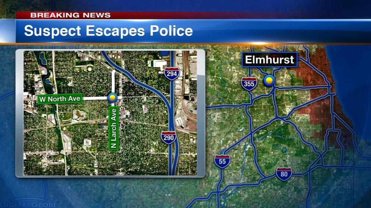Suspect escapes police custody in Elmhurst
