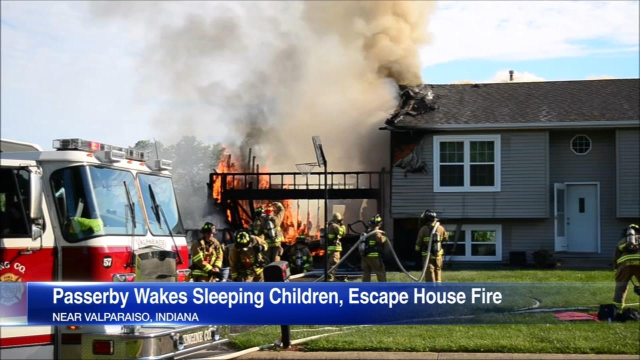 Children escape fire thanks to good Samaritan