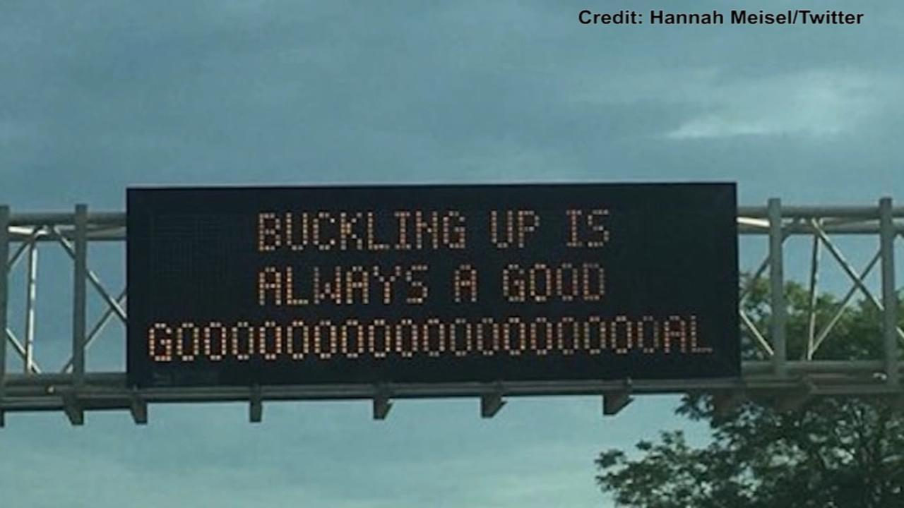 Whos behind the creative safety signs on Illinois highways?