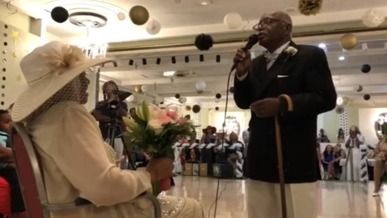 80-year-old sings to his new bride
