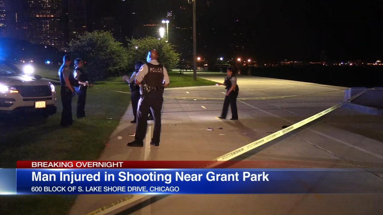 Man wounded in shooting near Grant Park