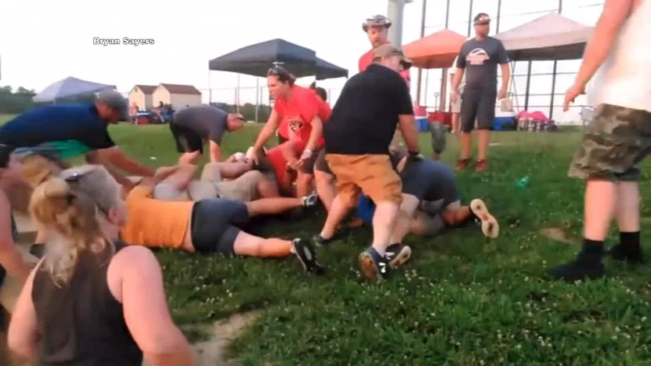 Brawl breaks out at softball tournament