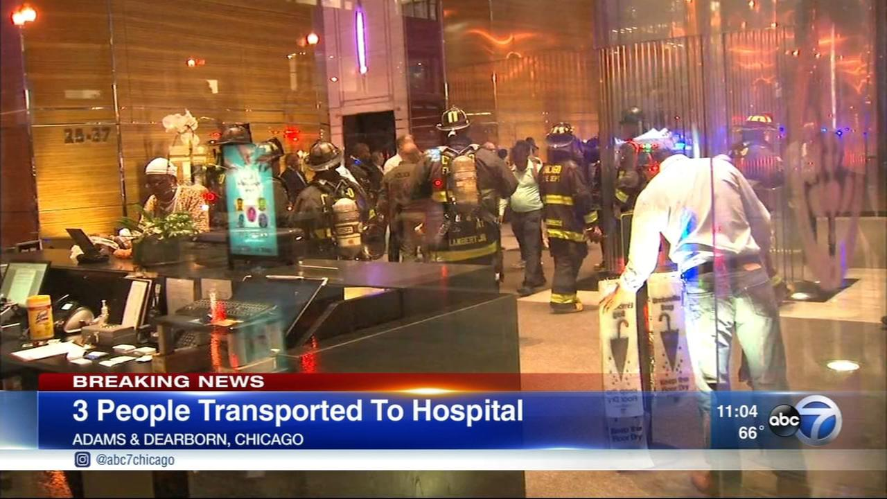 3 hospitalized after Loop hazmat situation