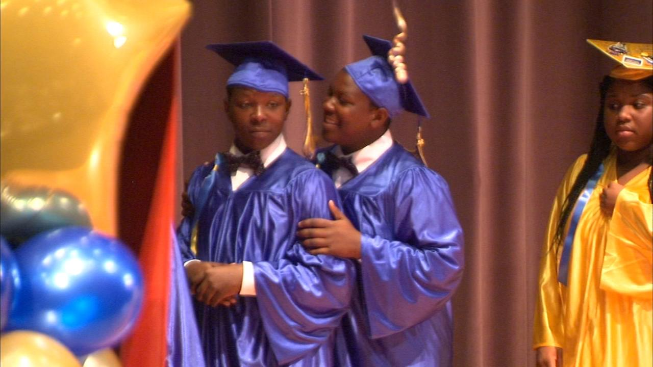 14-year-old North Lawndale twins graduate from 8th grade despite some struggles