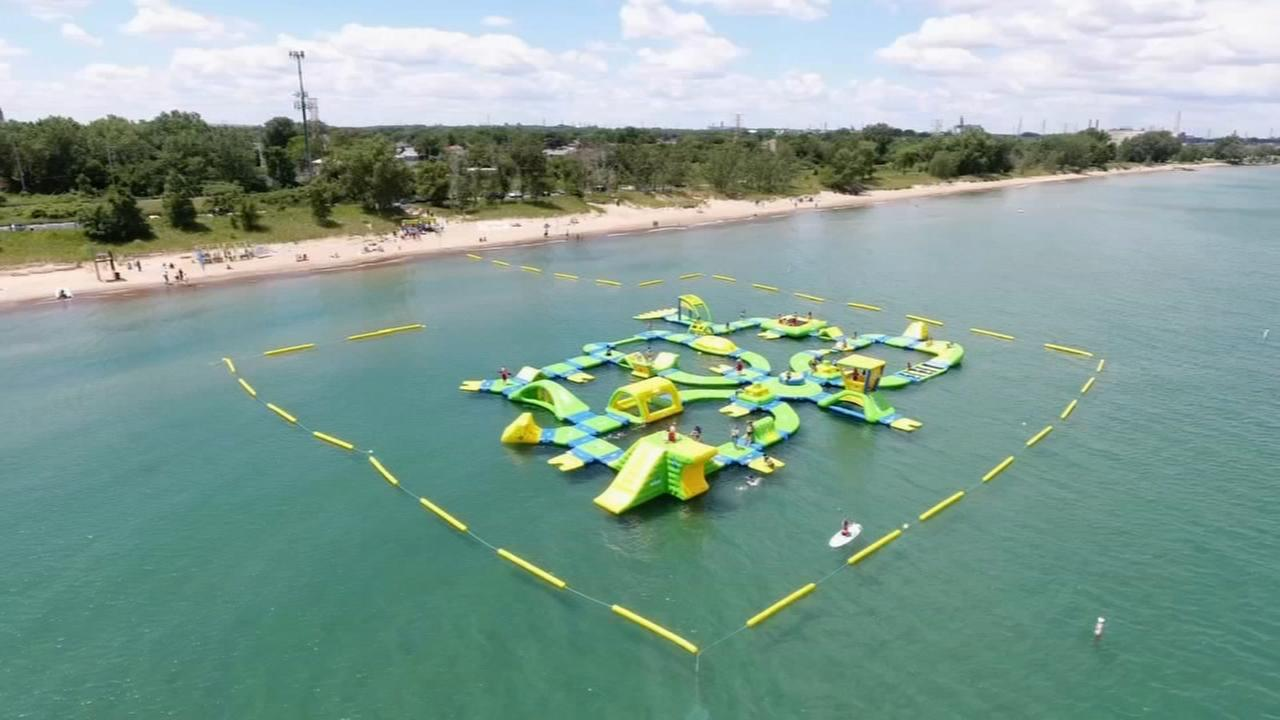 Floating waterpark comes back to Lake Michigan Saturday