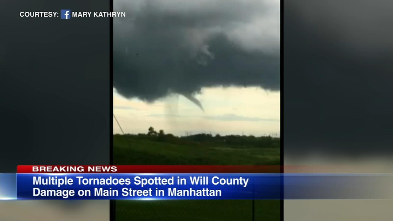 Funnel cloud touchdowns reported in Manhattan