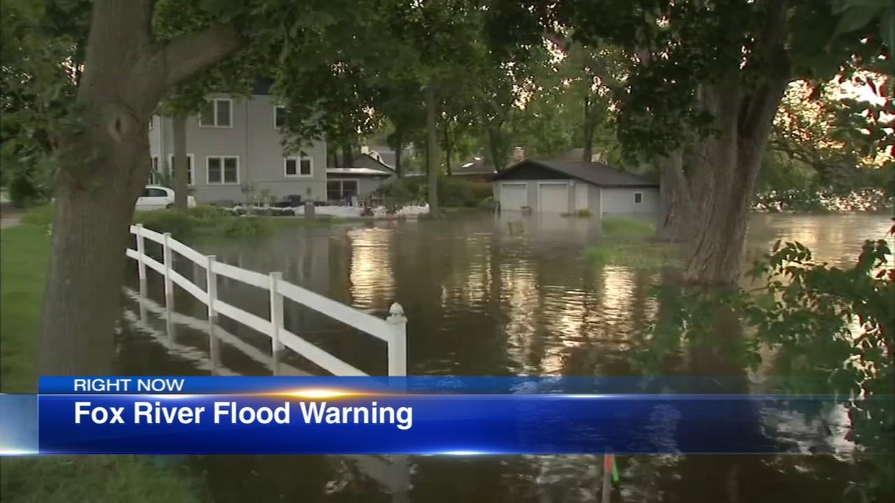 Fox River remains above flood stage; Flood Warning in effect until Monday