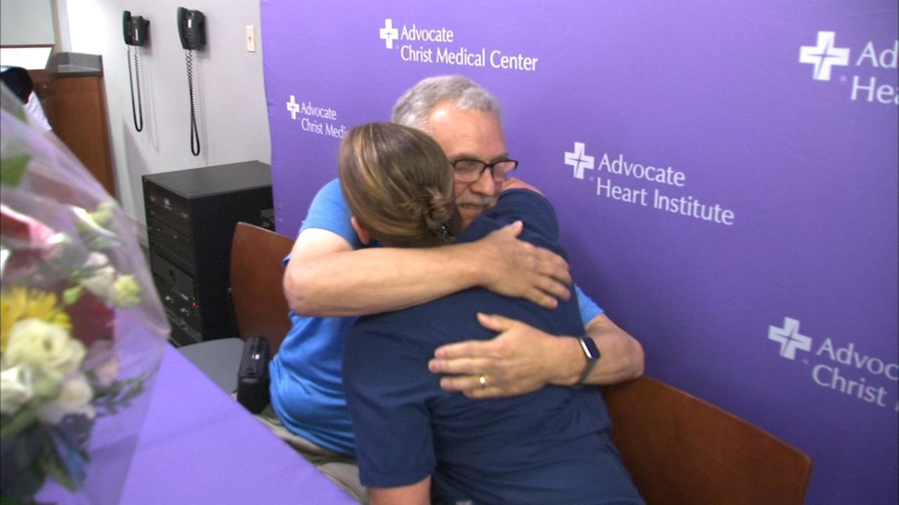 Man thanks nurse who saved his life at Alsip gym