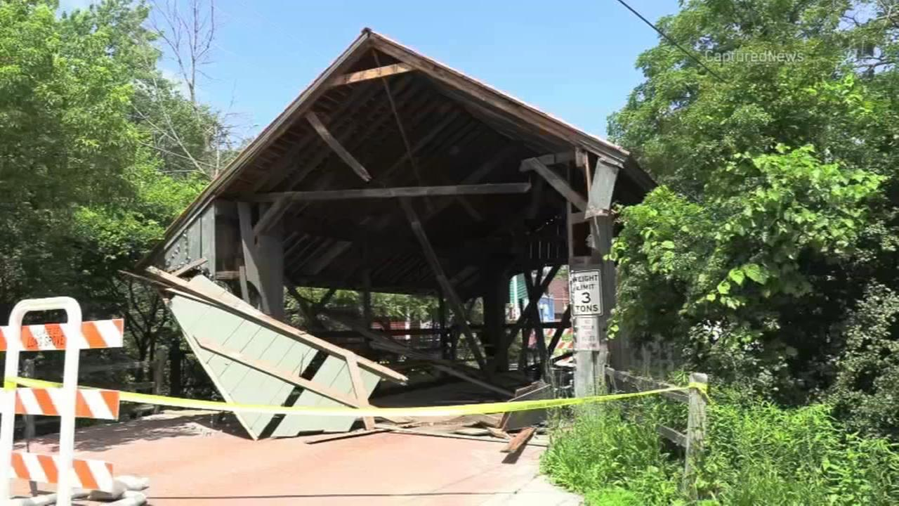 Covered bridge in Long Grove majorly damaged days after historic landmark designation