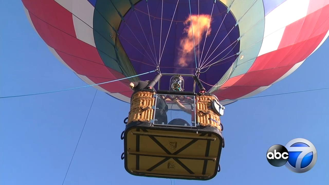 Hot Air Balloons float over Lisle