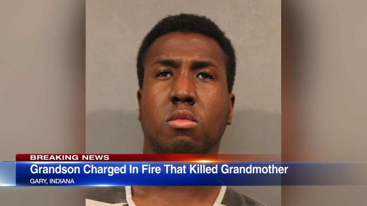 Grandson charged in death of Gary woman found after house fire