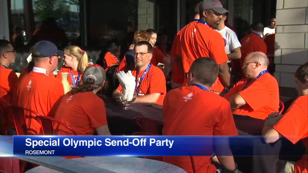 Illinois Special Olympics athletes get sweet send-off