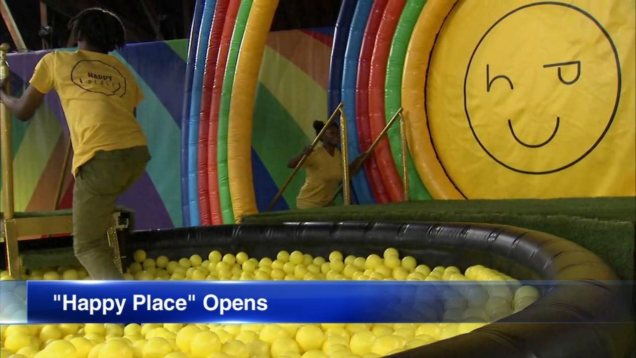 The Happy Place pop-up exhibit now open