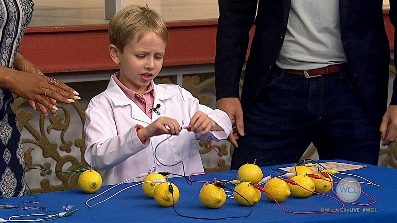 Nate Butkus, 8-year-old science whiz, puts lemons to the test