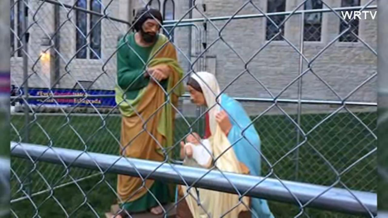 Indianapolis church cages Mary, Joseph, Baby Jesus to condemn immigration policy