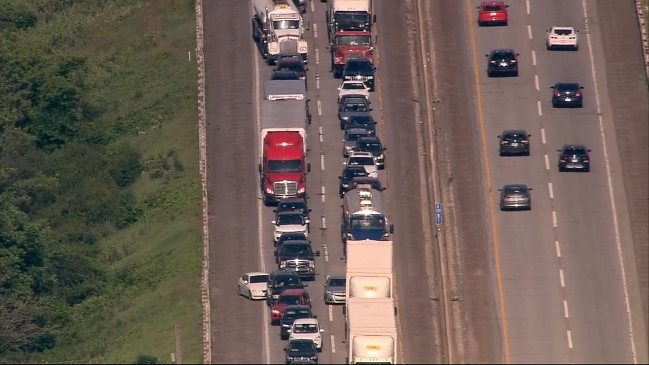 Major back up following crash on Indiana Tollway