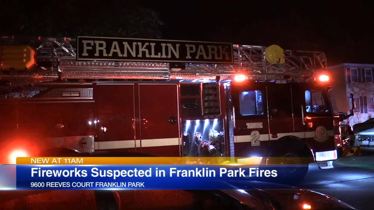 Fire damages several Franklin Park buildings; fireworks suspected as cause
