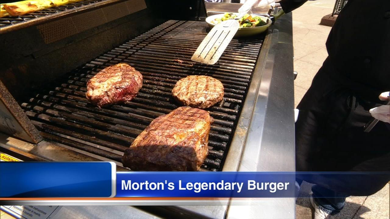 Mortons The Steakhouse Executive Chef demonstrates their legendary burger