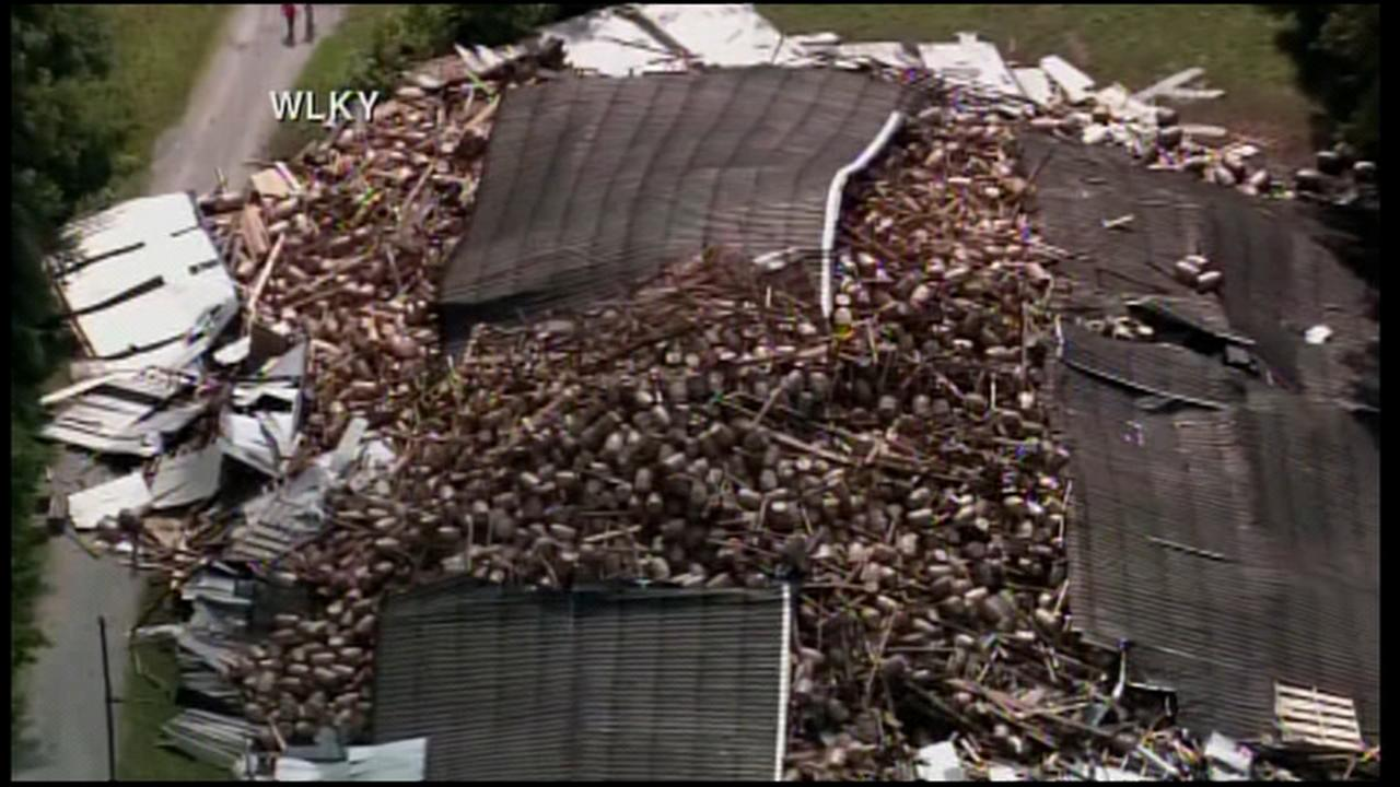 Bourbon warehouse collapses near Louisville, Kentucky