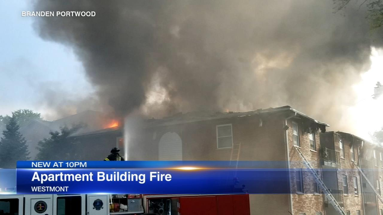 2 injured in Westmont apartment building fire