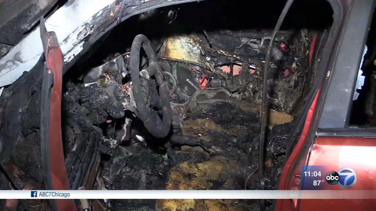 Man escapes burning car after SW Side hit-and-run