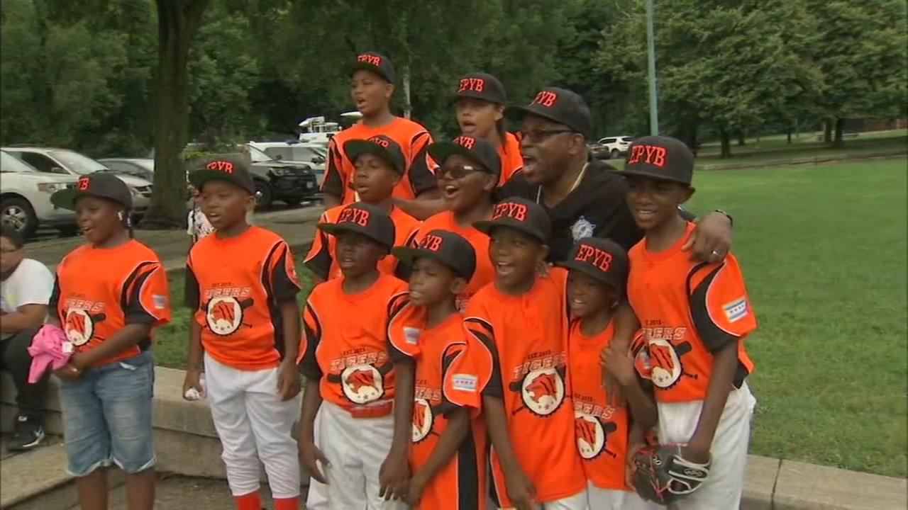 Cops, kids and community bond at Englewood Police/Youth Baseball opening day
