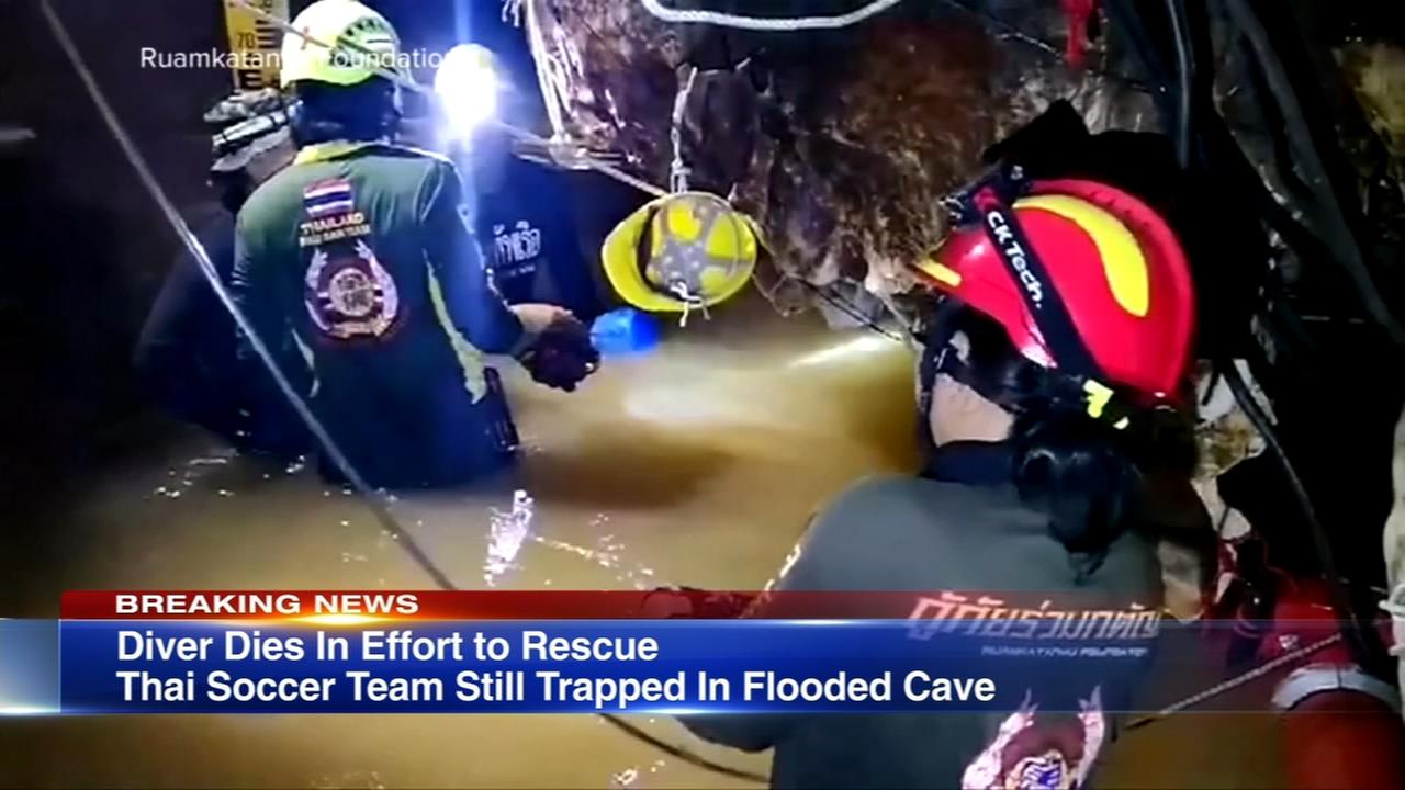 Authorities: Former Thai navy SEAL rescuer in cave dead from lack of oxygen