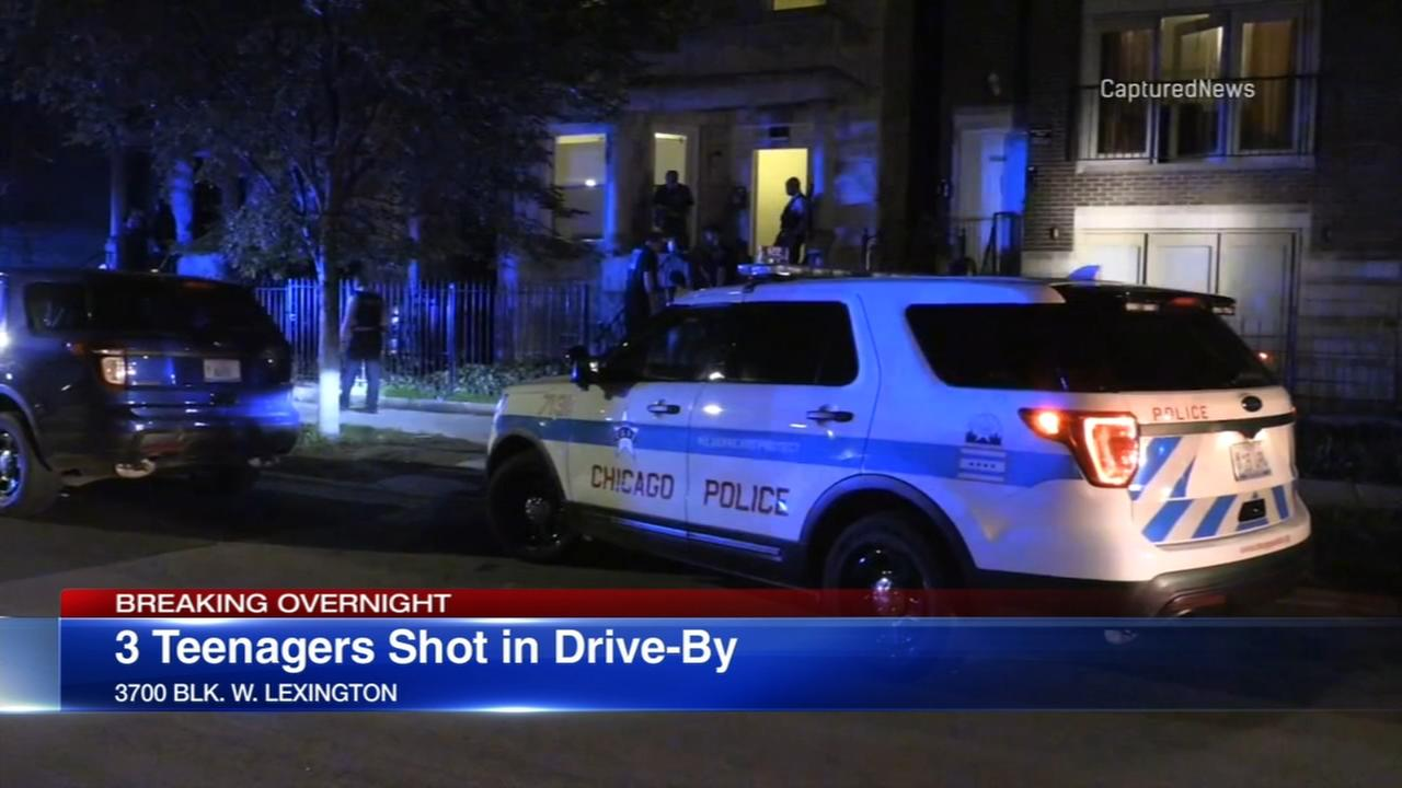 3 teen boys shot in Homan Square drive-by