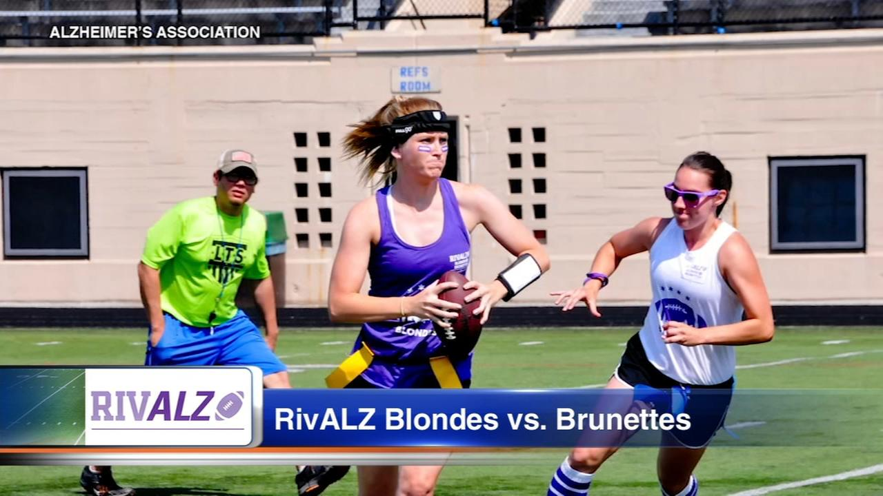 Women hit the gridiron for Alzheimers awareness