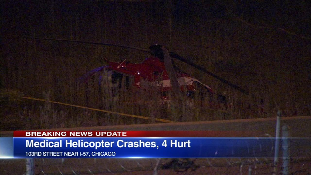 4 injured in helicopter crash on Far South Side
